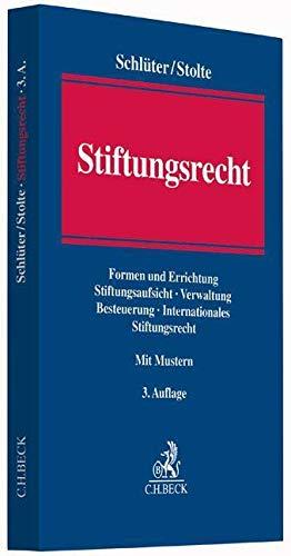 Stiftungsrecht: Andreas Schl�ter