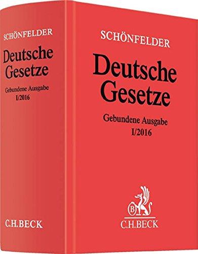 9783406690389: Deutsche Gesetze Gebundene Ausgabe I/2016: Rechtsstand: 15. Januar 2016