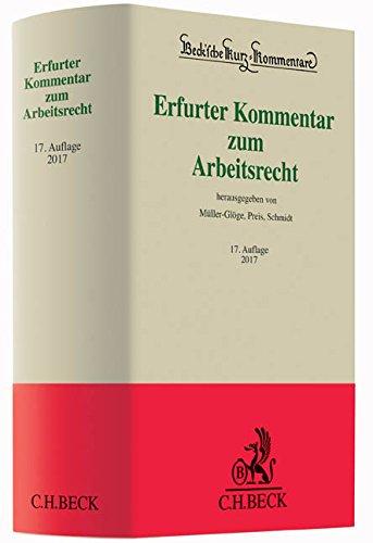 9783406696121: Erfurter Kommentar zum Arbeitsrecht