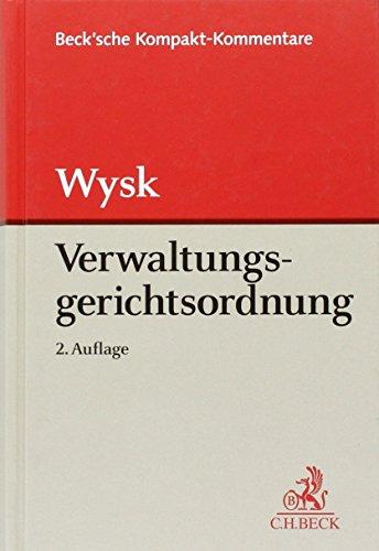 9783406698002: Kombination Wysk, Verwaltungsgerichtordnung 2. Auflage und Huck, Verwaltungsverfahrensgesetz 2. Auflage