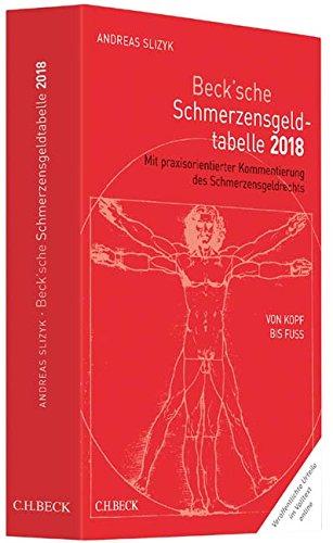 Beck'sche Schmerzensgeld-Tabelle 2018: Von Kopf bis Fuß : Mit praxisorientierter Kommentierung des Schmerzensgeldrechts - Andreas Slizyk