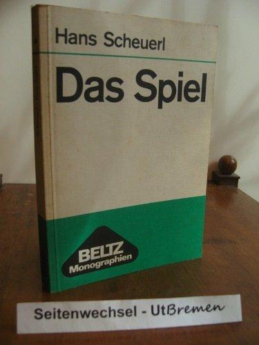 9783407180483: Das Spiel. Untersuchungen über sein Wesen, seine pädagogischen Möglichkeiten und Grenzen. ( Beltz Monographien) .