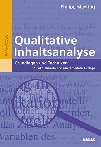 9783407255334: Qualitative Inhaltsanalyse: Grundlagen und Techniken