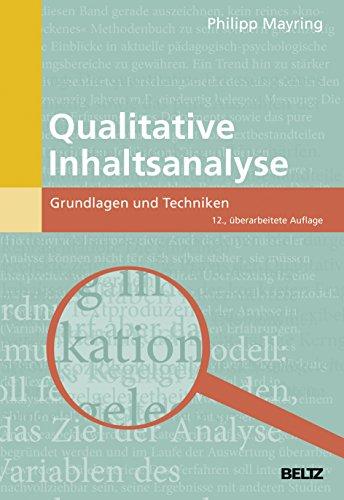 9783407257307: Qualitative Inhaltsanalyse: Grundlagen und Techniken