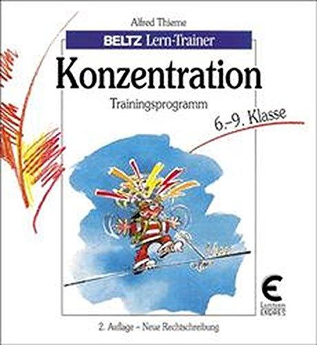 9783407380395: Konzentration, Trainingsprogramm, 6.-9. Klasse
