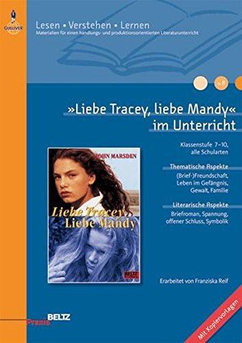 9783407625533: »Liebe Tracey, liebe Mandy« im Unterricht: Klassenstufe 7-10, alle Schularten