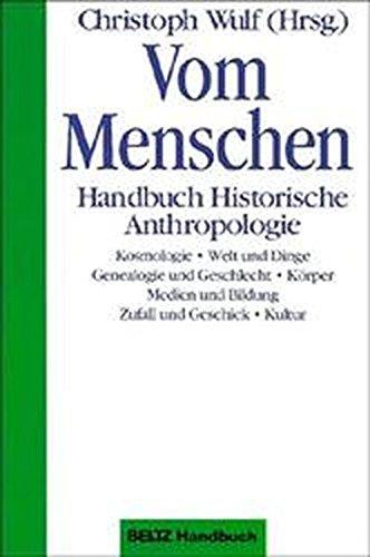 9783407831361: Vom Menschen: Handbuch Historische Anthropologie (German Edition)