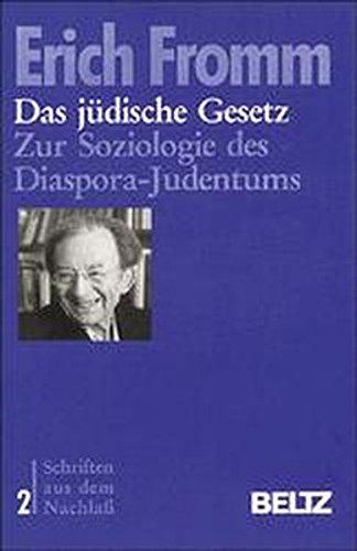 9783407856029: Das jüdische Gesetz. Zur Soziologie des Diaspora-Judentums. Dissertation von 1922