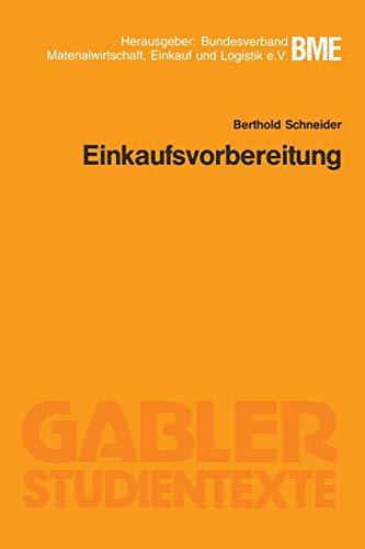 9783409006071: Einkaufsvorbereitung (Gabler-Studientexte) (German Edition)
