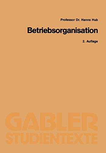9783409021128: Betriebsorganisation (German Edition)