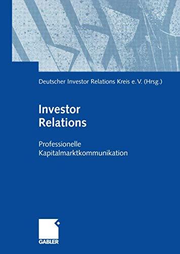 9783409114356: Investor Relations: Professionelle Kapitalmarktkommunikation