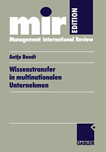 9783409115896: Wissenstransfer in multinationalen Unternehmen (mir-Edition) (German Edition)