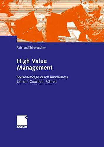 9783409119481: High Value Management
