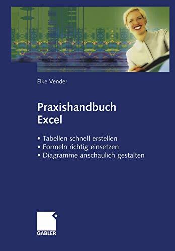 9783409124058: Praxishandbuch Excel: · Tabellen schnell erstellen · Formeln richtig einsetzen · Diagramme anschaulich gestalten (German Edition)
