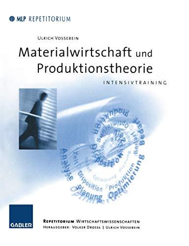 9783409126120: Materialwirtschaft und Produktionstheorie. Intensivtraining