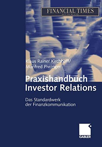 9783409127103: Praxishandbuch Investor Relations