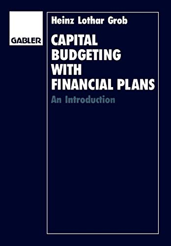 9783409129039: Capital Budgeting with Financial Plans: An Introduction