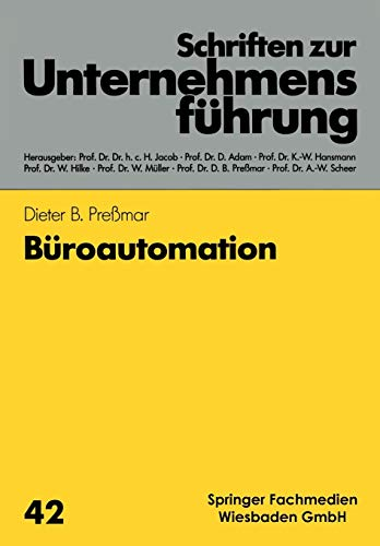 9783409131292: Büroautomation (Schriften zur Unternehmensführung) (German Edition)
