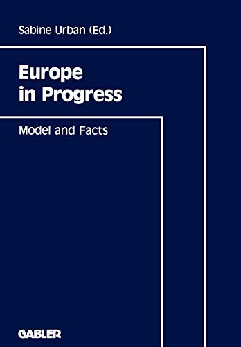 9783409132374: Europe in Progress: Model and Facts