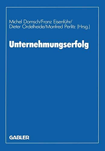 9783409134026: Unternehmungserfolg: Planung ― Ermittlung ― Kontrolle (German Edition)