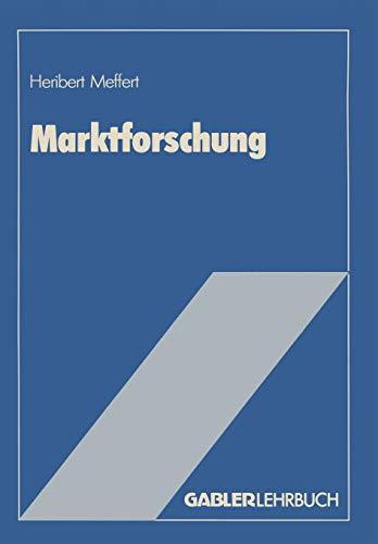9783409136068: Marktforschung: Grundriß mit Fallstudien