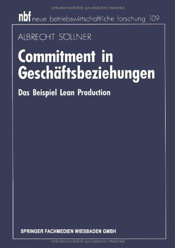 9783409138147: Commitment in Geschaftsbeziehungen (neue betriebswirtschaftliche forschung (nbf))