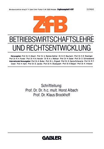 9783409139557: Betriebswirtschaftslehre und Rechtsentwicklung (ZfB Special Issue) (German Edition)