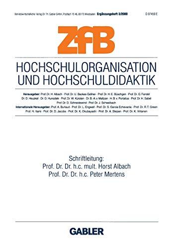 Hochschulorganisation Und Hochschuldidaktik: Albach, Horst (Editor)/ Mertens, Peter (Editor)
