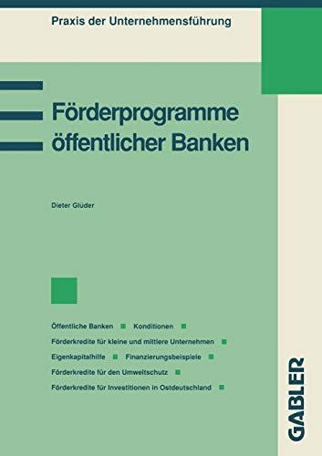 9783409139878: Förderprogramme öffentlicher Banken (Praxis der Unternehmensführung)