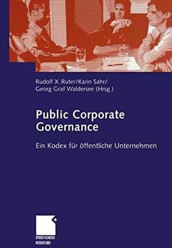 9783409143097: Public Corporate Governance: Ein Kodex für öffentliche Unternehmen