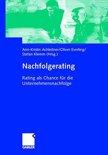 9783409143271: Nachfolgerating: Rating als Instrument der mittelst�ndischen Unternehmensnachfolge