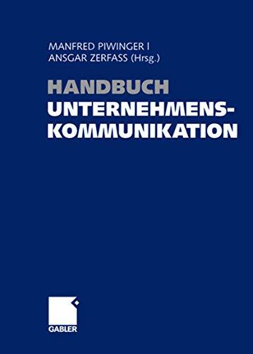 9783409143448: Handbuch Unternehmenskommunikation