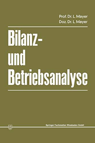 9783409164054: Bilanz- und Betriebsanalyse