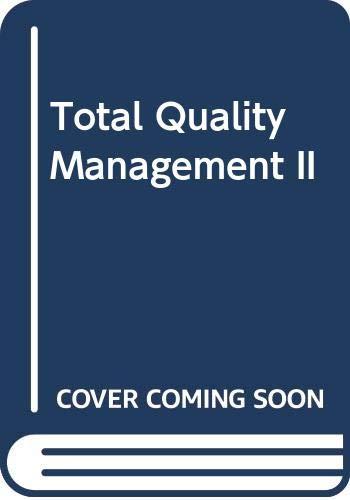 9783409179263: Total Quality Management II. (=Schriften zur Unternehmensführung; Band 55).