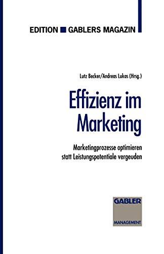 Effizienz im Marketing: Marketingprozesse optimieren statt Leistungspotentiale: Lukas, Andreas