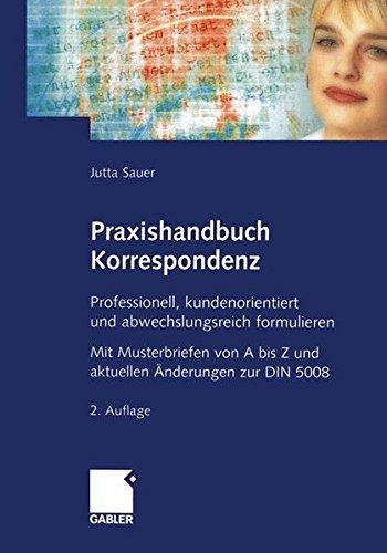 9783409224048: Praxishandbuch Korrespondenz