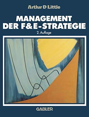 9783409234276: Management der F&E-Strategie (German Edition)