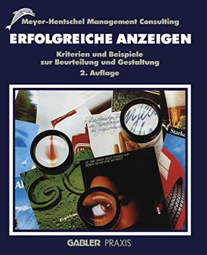 9783409236140: Erfolgreiche Anzeigen: Kriterien und Beispiele zur Beurteilung und Gestaltung (German Edition)