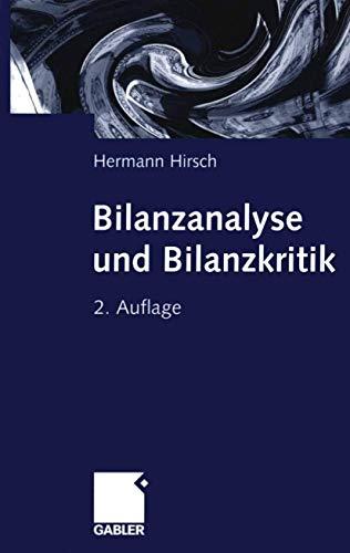 9783409242134: Bilanzanalyse und Bilanzkritik (German Edition)