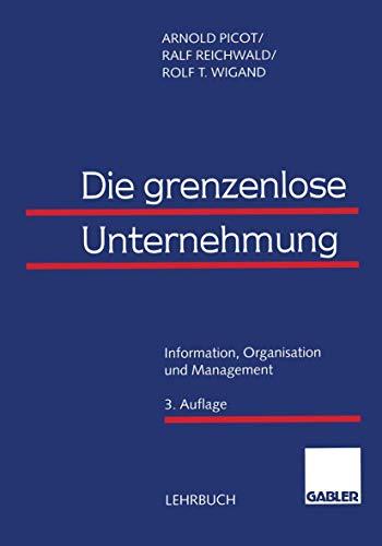 9783409322140: Die grenzenlose Unternehmung. Information, Organisation und Management.
