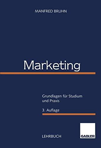 9783409336468: Marketing: Grundlagen für Studium und Praxis