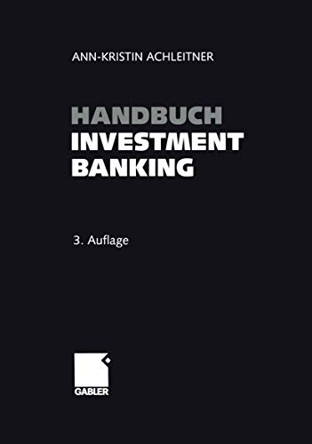 9783409341844: Handbuch Investment Banking (German Edition)