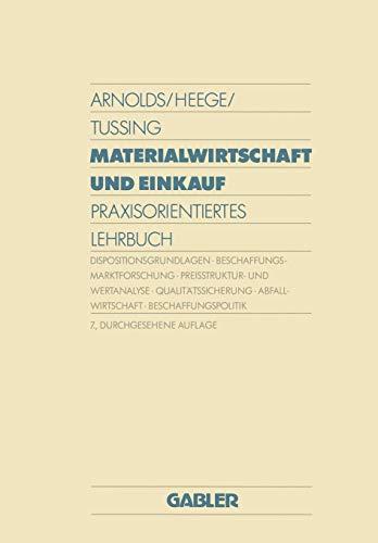 9783409351577: Materialwirtschaft und Einkauf: Praxisorientiertes Lehrbuch