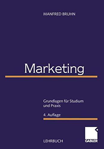 9783409436465: Marketing. Grundlagen für Studium und Praxis