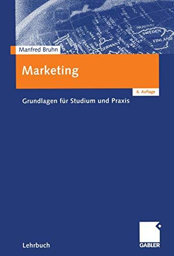 9783409636469: Marketing. Grundlagen für Studium und Praxis
