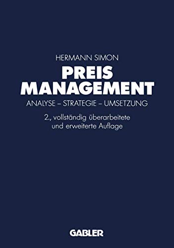 9783409691420: Preismanagement. Analyse - Strategie - Umsetzung