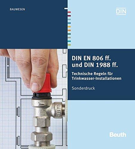 9783410230465: DIN EN 806 ff. und DIN 1988 ff: Technische Regeln für Trinkwasser-Installationen Sonderdruck