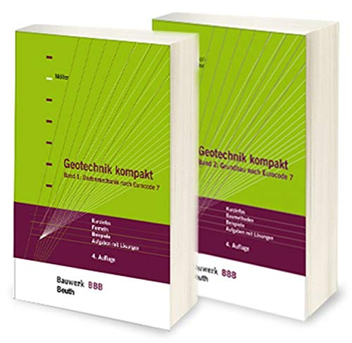 9783410238195: Geotechnik kompakt nach Eurocode 7: Paket: Band 1: Bodenmechanik + Band 2: Grundbau Bauwerk-Basis-Bibliothek
