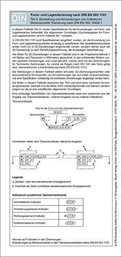 9783410251538: Form- und Lagetolerierung nach DIN EN ISO 1101: Teil 2: 2D/3D-Darstellung inkl. dimensionelle Tolerierung Faltblatt mit Auszügen aus der Norm