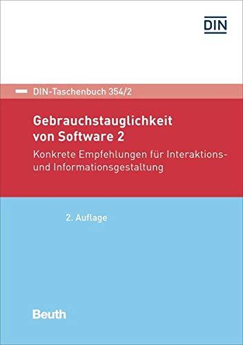 9783410252351: Gebrauchstauglichkeit von Software 2: Konkrete Empfehlungen für Interaktions- und Informationsgestaltung
